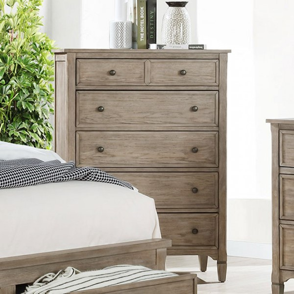 Furniture Of America Anneke Wire Brushed Warm Gray Chest FOA-7173C