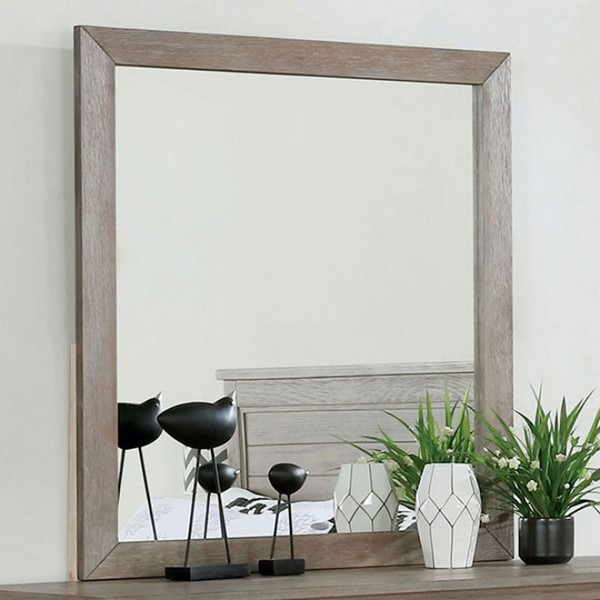 Furniture Of America Vevey Wire Brushed Warm Gray Mirror FOA-7175M