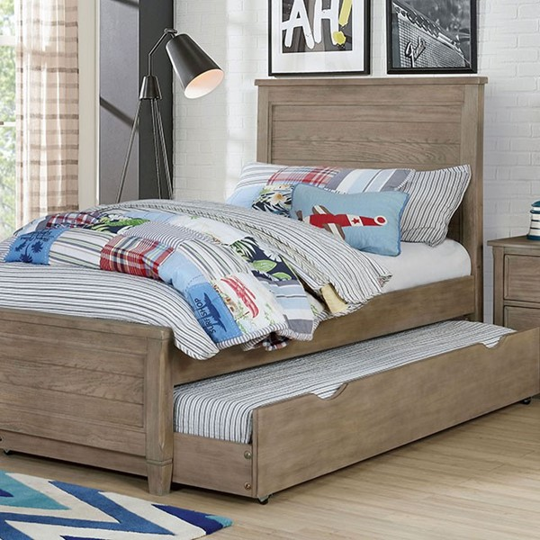 Furniture Of America Vevey Wire Brushed Warm Gray Beds FOA-7175-BEDS