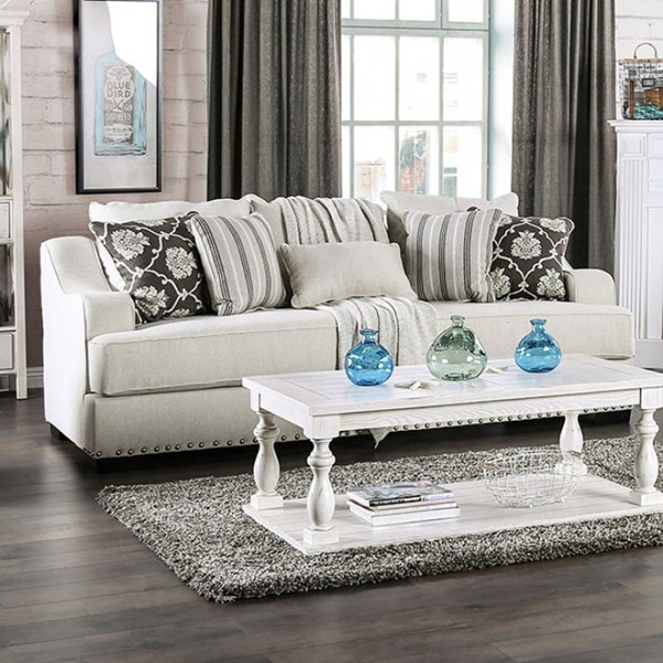 Furniture Of America Horwich Cream Sofa FOA-SM1226-SF