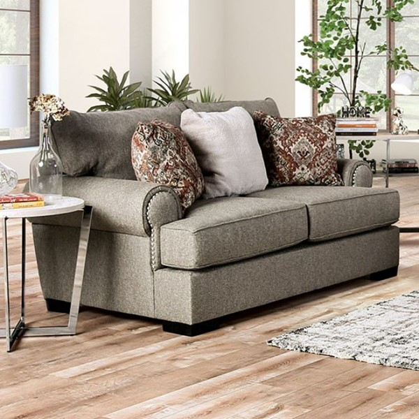 Furniture Of America Debora Gray Loveseat FOA-SM1298-LV