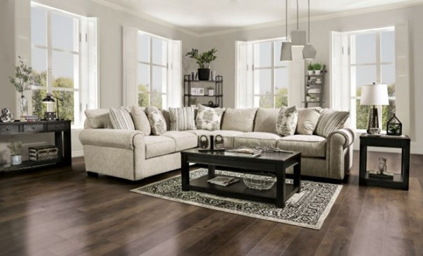 Furniture Of America Stapleford Beige Sectional FOA-SM1290-SECT