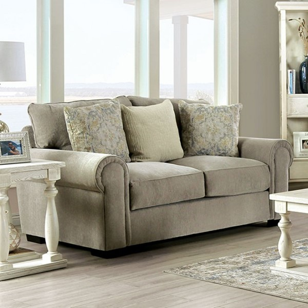 Furniture Of America Osborne Gray Loveseat FOA-SM1296-LV