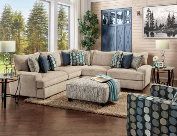 Furniture Of America Eastleigh Gray Sectional FOA-SM8187-SECT