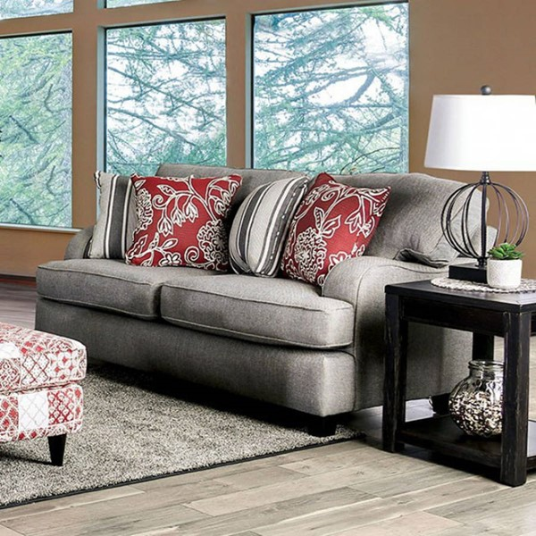 Furniture of America Ames Charcoal Loveseat FOA-SM8250-LV