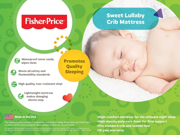 Fisher Price Sweet Lullaby II Foam Mattress FSRP-812540-69