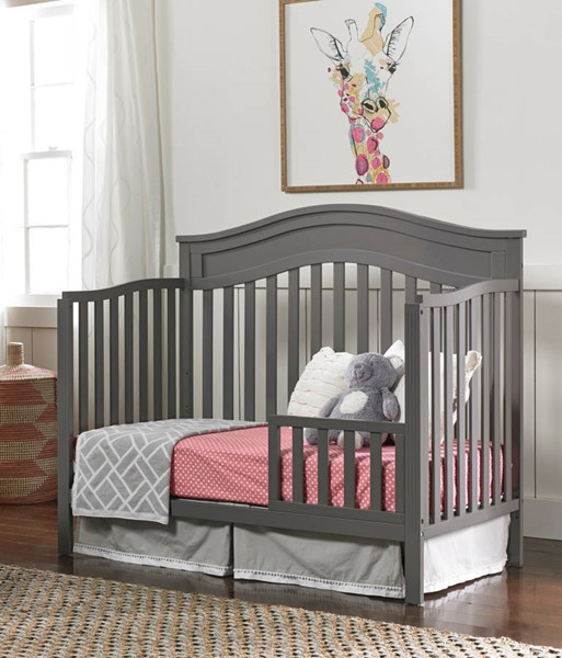 Fisher Price Aubree Stormy Grey Convertible Crib with Guard Rail FSRP-121701-189933-14