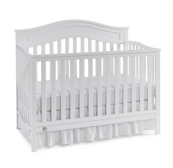 Fisher Price Aubree Snow White Convertible Cribs with Guard Rail FSRP-121701-189933-CRB-VAR