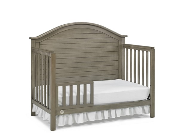 Fisher Price Haley Vintage Grey Full Panel Convertible Crib with Guard Rail FSRP-130601-189933-19