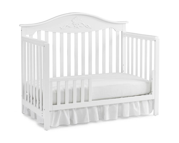Fisher Price Mia Snow White Convertible Cribs with Guard Rail FSRP-133501-189934-CRB-VAR