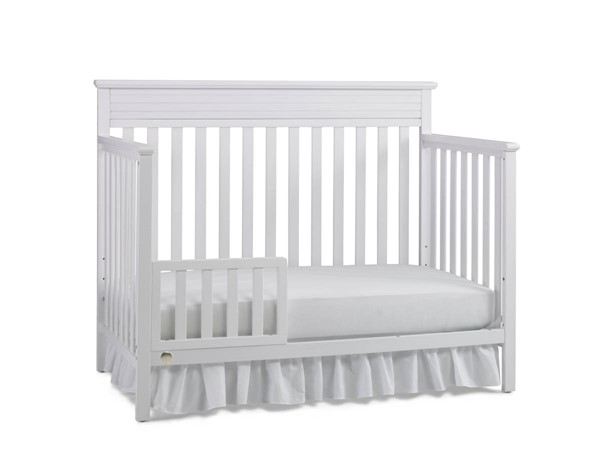 Fisher Price Newbury Snow White Convertible Cribs with Guard Rail FSRP-123701-189933-CRB-VAR