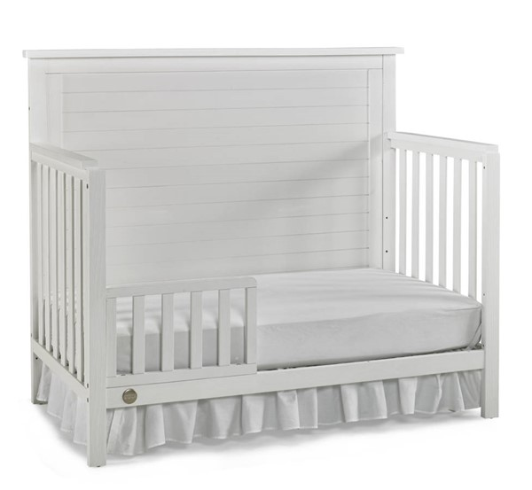 Fisher Price Quinn Weathered White Convertible Cribs with Guard Rail FSRP-137001-189934-CRB-VAR