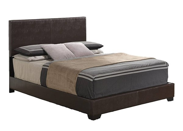 Global Furniture 8103 Brown Gloss Full Platform Bed GL-8103-BR-FB-M