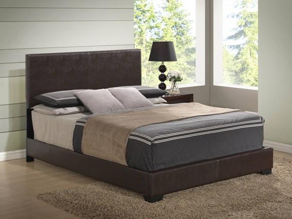 Brown PU Full Bed w/Upholstered Headboard GL-8103-BR-FB-M