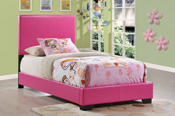 Global Furniture 8103 Pink Twin Platform Bed GL-8103-P-TB-M