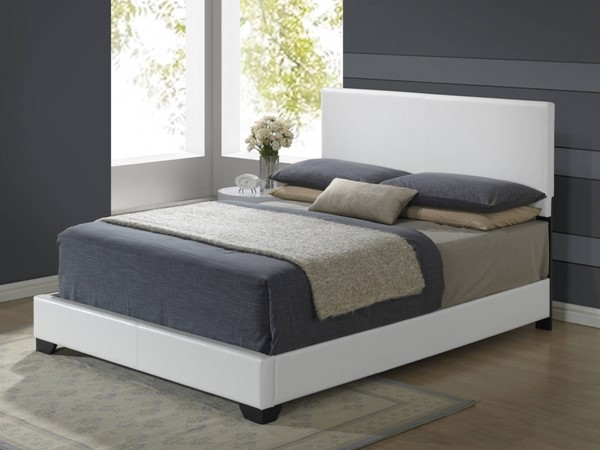 Global Furniture 8103 White Gloss Full Platform Bed GL-8103-WH-FB-M