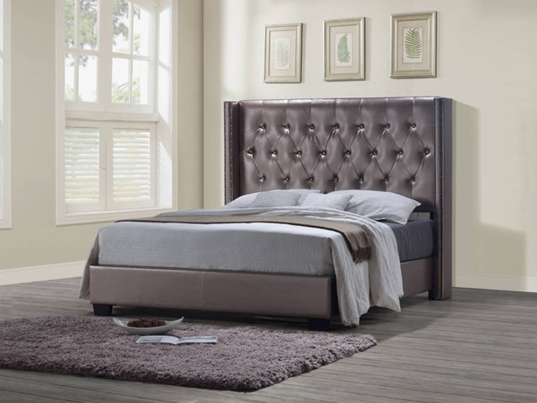 8611 Series Antique Pearl Brown Beds GL-8611-BEDS