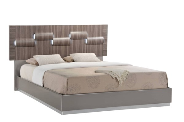 Adel Zebra Wood Grey High Gloss Beds GL-ADEL-119A-BEDS