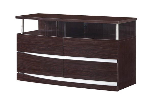 Global Furniture Aurora Wenge MDF Entertainment Unit GL-AURORA-W-EU-M