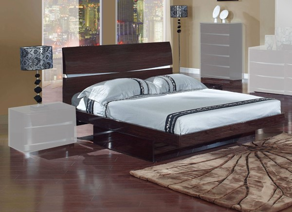 Global Furniture Aurora Wenge Full Storage Bed GL-AURORA-W-FB-M