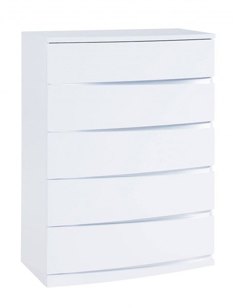 Aurora Modern White MDF Wood Chest GL-AURORA-WH-CH-M