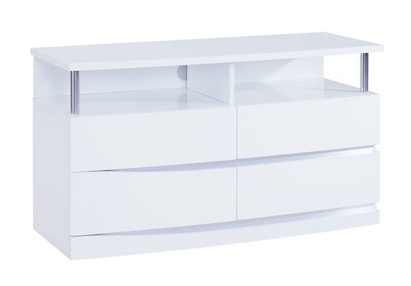 Aurora Modern White MDF Wood Entertainment Unit GL-AURORA-WH-EU-M