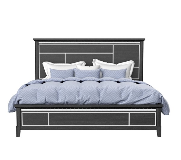 Global Furniture Ava Black Wood King Bed GL-AVA-BLACK-KB