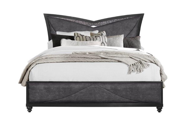 Global Furniture Beverly Metallic Black King Platform Bed GL-BEVERLY-BL-KB