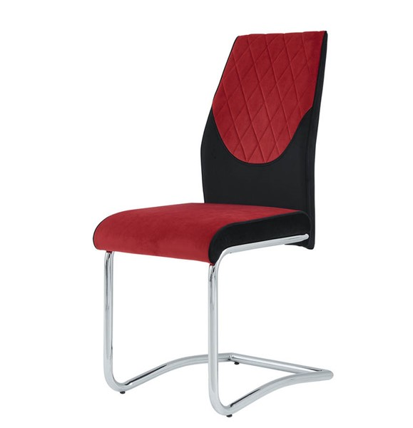 2 Global Furniture D1021 Black Red Dining Chairs GL-D1021DC-BLK-RED
