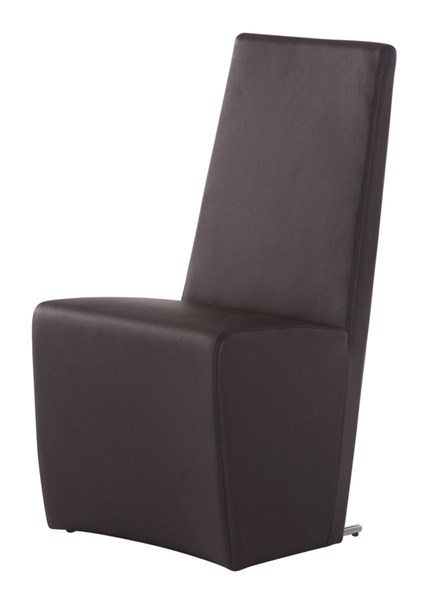 2 Brown Fabric Solid Back Dining Room Chairs GL-D105DC-BR