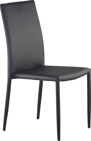 D1211 Series Black PU Stackable Dining Chair GL-D1211DC-BL