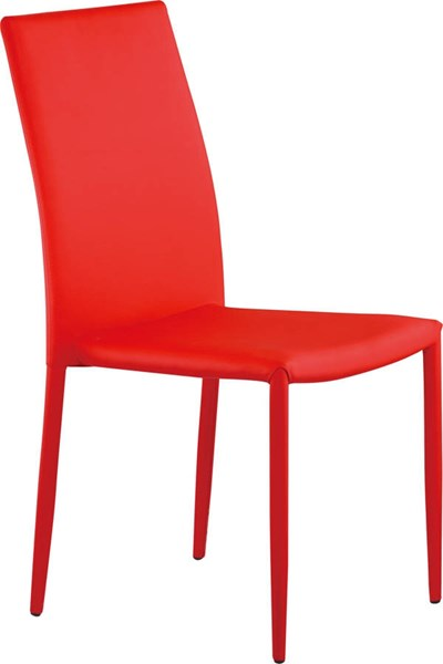 D1211 Series Red PU Stackable Dining Chair GL-D1211DC-R