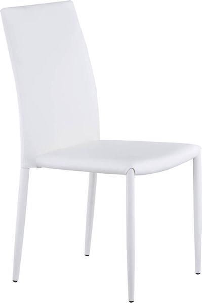 D1211 Series White PU Stackable Dining Chair GL-D1211DC-WH