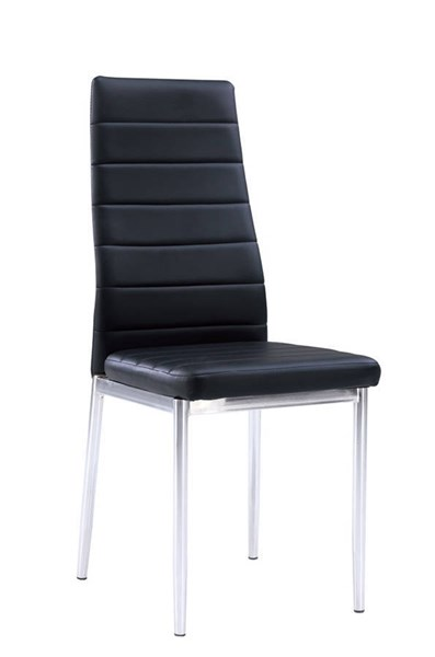4 Global Furniture D140 Black Chrome Dining Chairs GL-D140DC-M