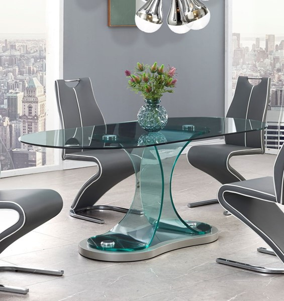 Global Furniture Champagne Grey Dining Table GL-D1713DT
