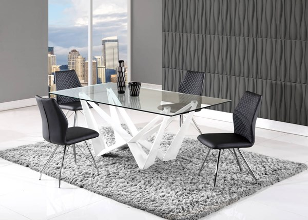 D2003 Series White Black Dining Room Set GL-D2003