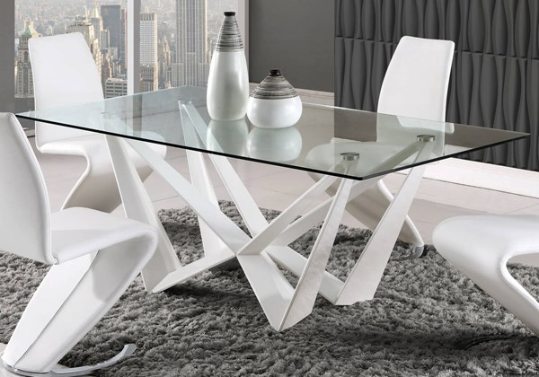 D2003 Series White Dining Table GL-D2003DT-WH