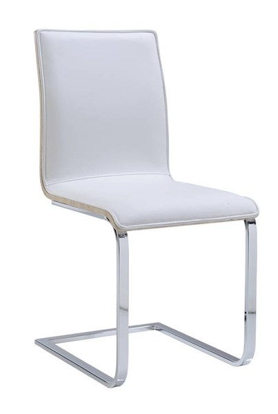 2 (D2123 Series) Contemporary White PU Dining Chairs GL-D2123DC