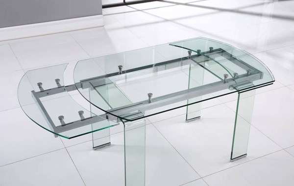 Global Furniture D2160 Clear Dining Table GL-D2160DT