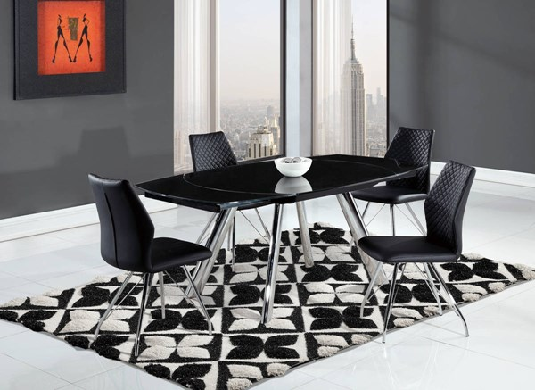 D2320 Series Chrome Black Dining Room Set GL-D2320