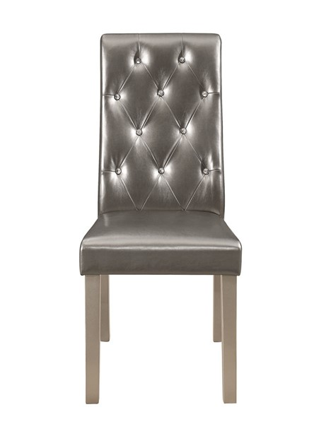 2 Global Furniture Metallic Grey Dining Chairs GL-DC27DC