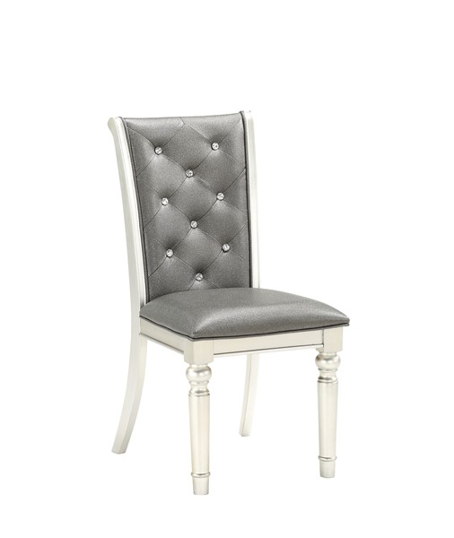 2 Global Furniture Silver Metallic Dining Chairs GL-D3355DC
