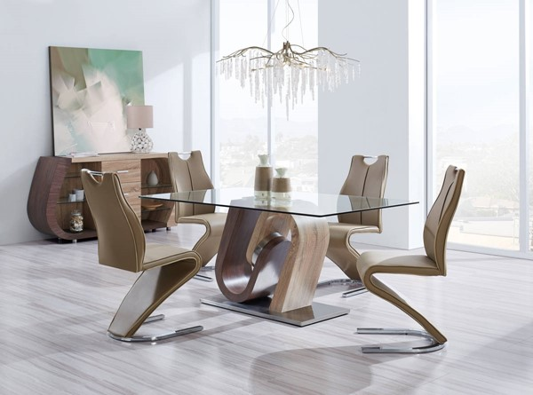 Global Furniture D4126 5pc Dining Room Set GL-D4126DT-D4126DC