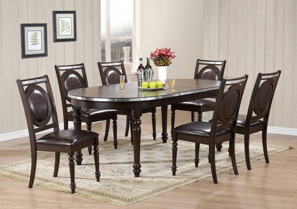 D4284 Series Elm Silver Dining Table GL-D4284DT-M