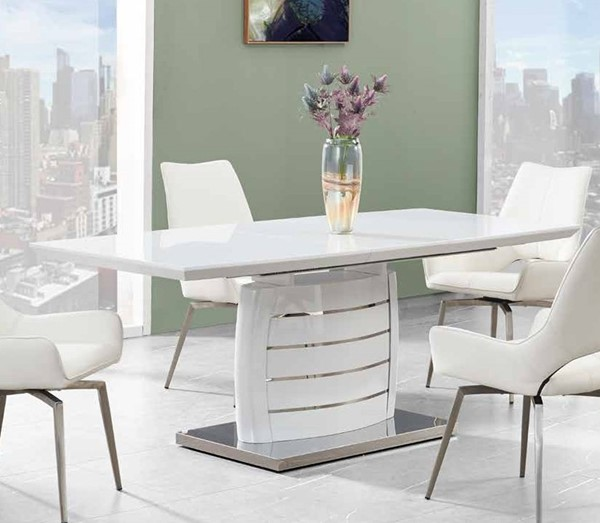 Global Furniture White Wood Dining Table GL-D4801DT