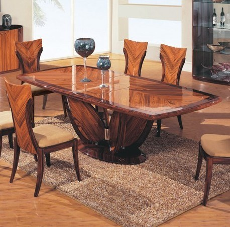 Antique Walnut Cherry Wood Solid Top Dining Table 899 23