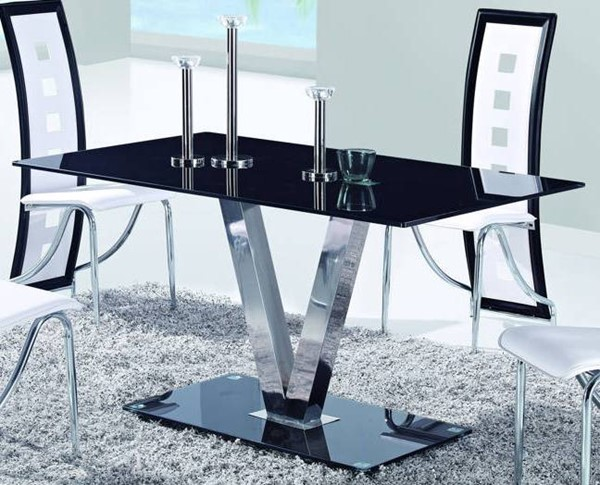 Global Furniture D551 Black Dining Table