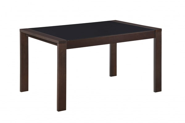 Contemporary Dark Walnut Wood MDF Dining Table w/Extension GL-D6601DT-M