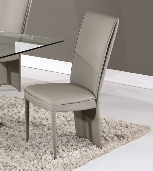 D6605 Series Taupe PU Dining Chair GL-D6605DC-TAUPE