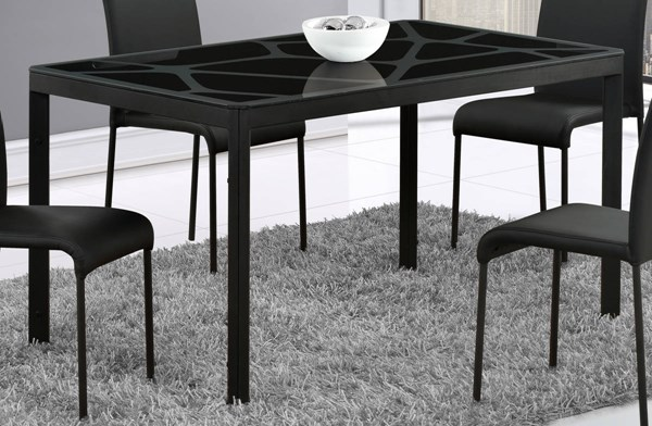 D751 Series Black Glass Dining Table GL-D751DT